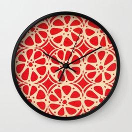 Blood Orange Wall Clock