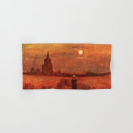 The Old Tower in the Fields by Vincent van Gogh Hand & Bath Towel