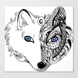 Abstract Fox Canvas Print