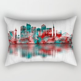 Lyon France Skyline Rectangular Pillow