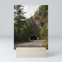 Mountain Tunnel Highway Mini Art Print