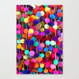 Rainbow Pom-poms (Vertical) Canvas Print