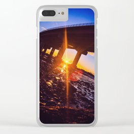 Sunburst on a Log at the Bottom of the Sea Clear iPhone Case
