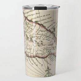 Vintage Map of Saint Kitts (1732) Travel Mug