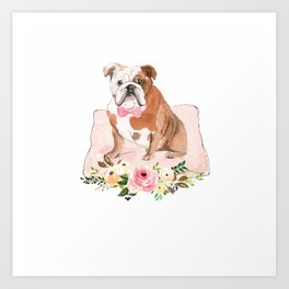Bulldog Neck Gator American Bulldog Art Print