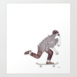 skatebearding (regular) Art Print