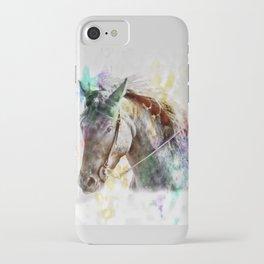 Watercolor Horse Portrait iPhone Case