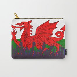 Welsh Flag with Audience Carry-All Pouch