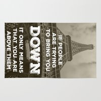 eiffel tower Area & Throw Rugs featuring Eiffel tower by Solar Designs