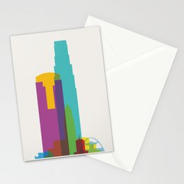 Shapes of Los Angeles accurate to scale Stationery Cards