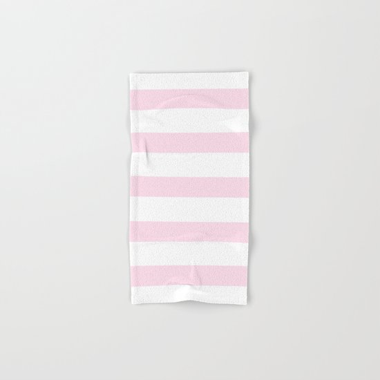 Pink Stripes on white- Beautiful luxury pattern Hand & Bath Towel