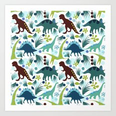 Dinosaur Days Art Print