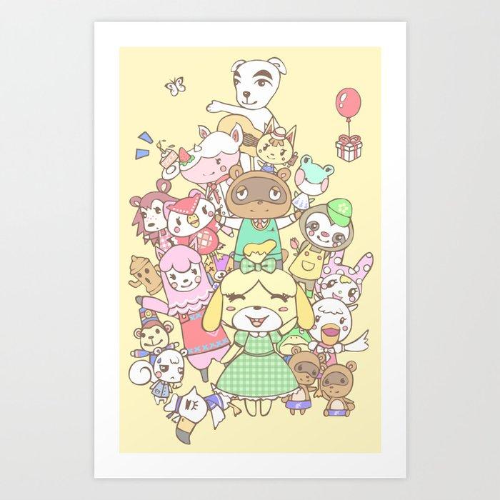 Animal Crossing (yellow) Kunstdrucke
