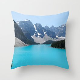 Moraine Lake, Banff Canada Throw Pillow