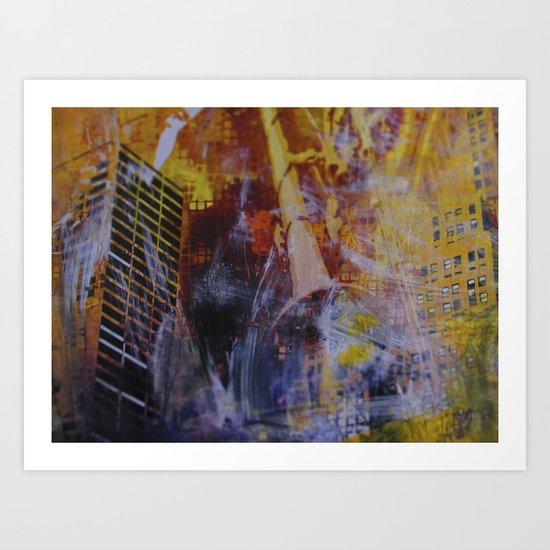 Citychaos Art Print