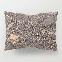 Vintage Pictorial Map of San Antonio TX (1873) Pillow Sham