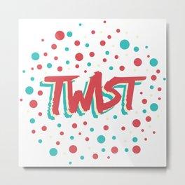 Twist N.9 Modele Rond Metal Print