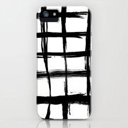 Brush plaid iPhone Case