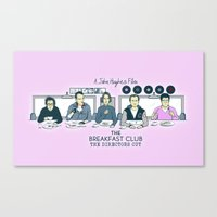 breakfast club Canvas Prints featuring Breakfast Club by Ted Takeshi Doré