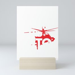 Helicopter Keep Calm and Auto Rotate Mini Art Print