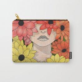Flower Garden Girl Carry-All Pouch