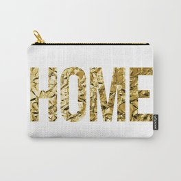 HOME (GOLD FOIL) Carry-All Pouch