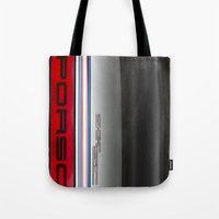 porsche Tote Bags featuring Porsche 911   by David Pyatt