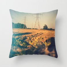 Stems and gears, oh how the daisies bloom Throw Pillow