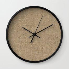 Plain Burlap Texture Print Wall Clock
