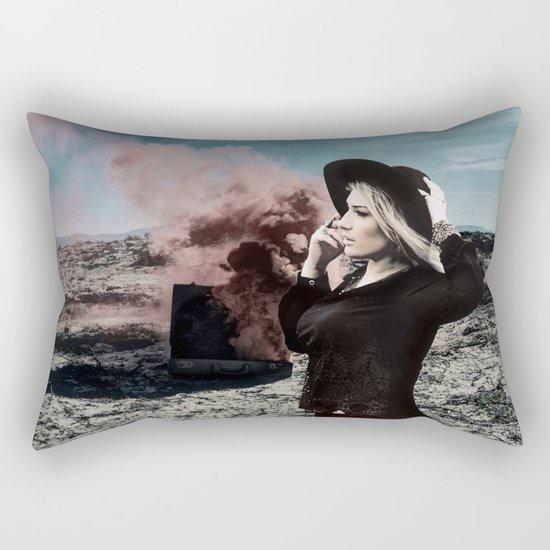 Burning Koffer Rectangular Pillow