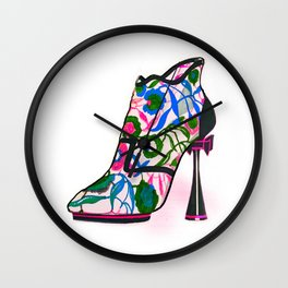 Colourful Bootie Wall Clock