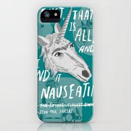 The Existentialist Unicorn iPhone Case