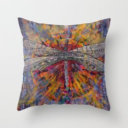 Mandala Dragon Throw Pillow