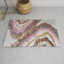 Geode Art Pink Rug