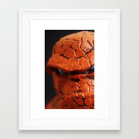 the thing Framed Art Prints featuring Thing by Beastie Toyz