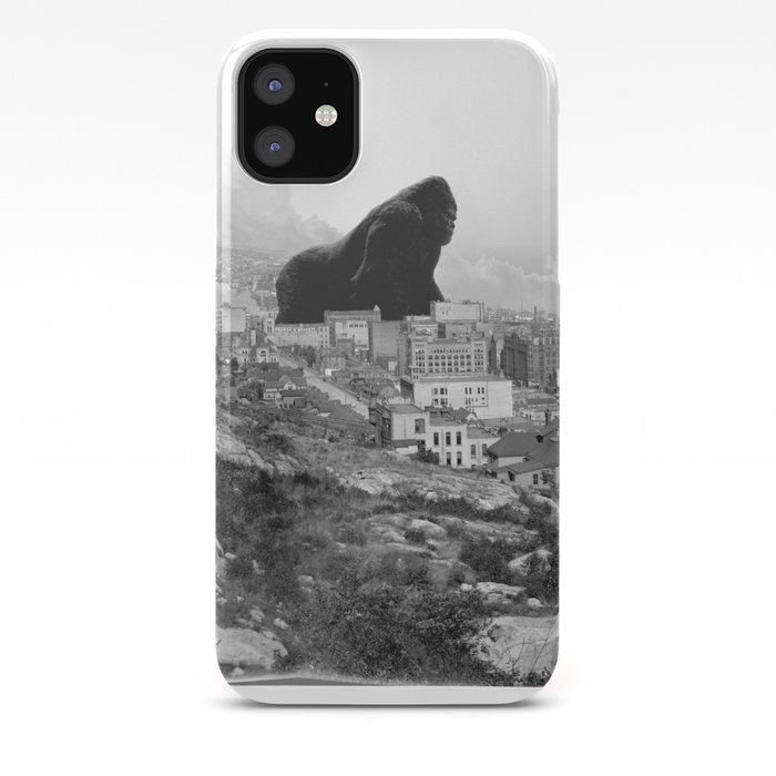 Old time Godzilla vs King Kong Reprised iPhone Case
