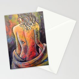 Abstract Art Original Nude Woman Girl Painting ... The Company You Keep Stationery Cards