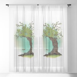 Tree Swing Sheer Curtain