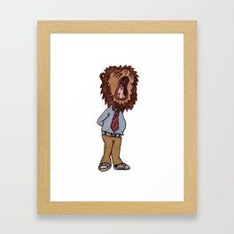 Lion Suit Framed Art Print