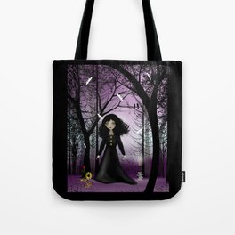 Violet Dawn Dark Steampunk Goth Girl Art Tote Bag