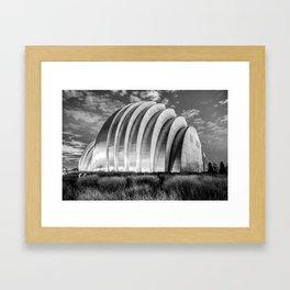 Kauffman Center at Dawn - Kansas City Architectural Monochrome Framed Art Print