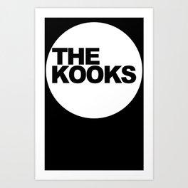 the kooks logo Music Art Print