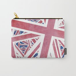 Union Jack Collage Carry-All Pouch
