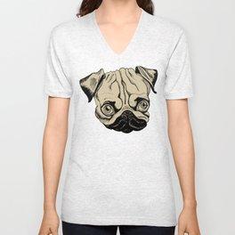 Pug Shot Unisex V-Neck