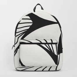 Diamond Series Floral Cross Charcoal on White Backpack