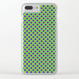 Neon Rainbow Mermaid Scales Clear iPhone Case