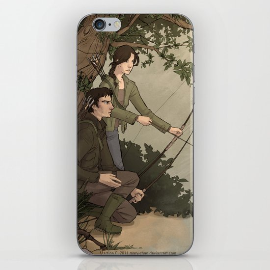 Katniss and Gale iPhone & iPod Skin
