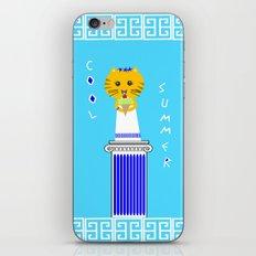 Greek Cat Eating Ice Cream iPhone & iPod Skin
