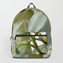 white flowers on white Backpack