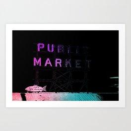 Seattle's Pike Place Art Print